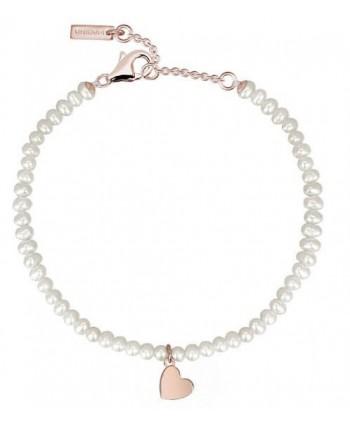 Bracciale Mabina perle cuore o quadrifoglio