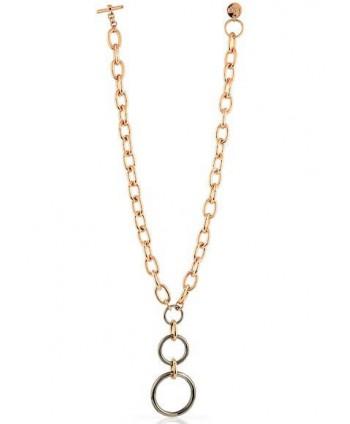 Collana Unoaerre Bronze oro rosa e nero