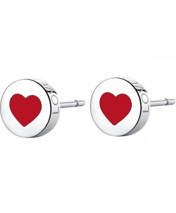 Orecchini S'Agapõ Click cuore smaltato (2 colori) SCK52