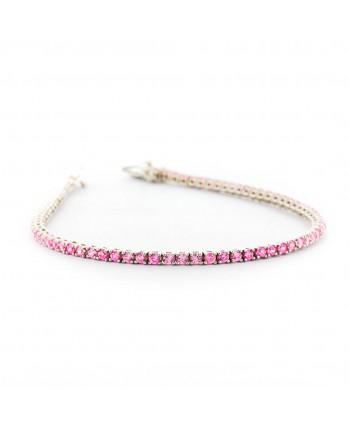 Bracciale Tennis Faga Collection zirconi colorati rosa
