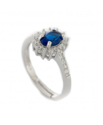 Anello Faga Collection zircone blu