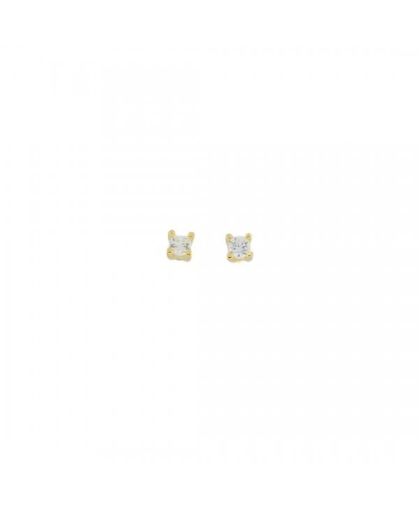 Orecchini Faga Collection punto luce dorato 2mm