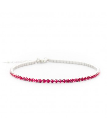 Bracciale Faga Collection Tennis regolabile rosa
