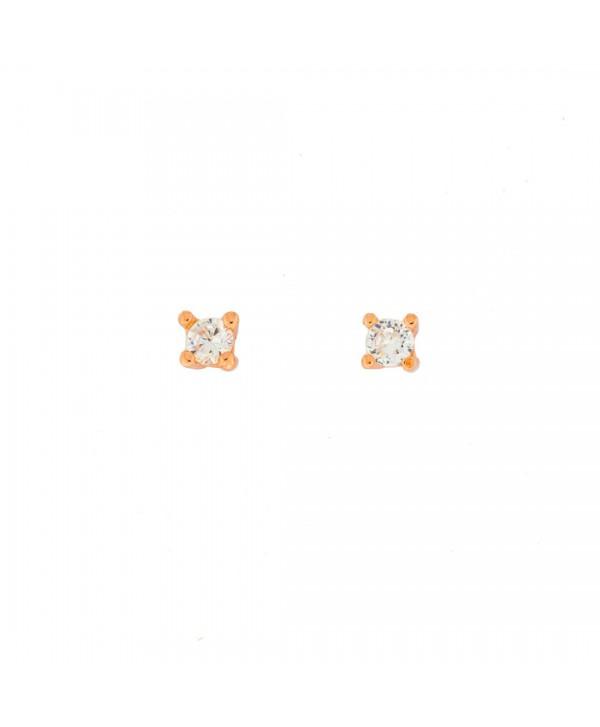 Orecchini Faga Collection punto luce rosato 3mm